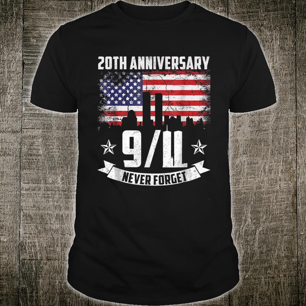 Patriot Day 2021 Never Forget 911 20th Anniversary Shirt
